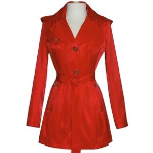 Via Spiga Red Trench coat Small weather resistant